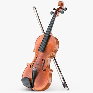 violin viola 3d model