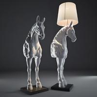 3d model horse floor lamp