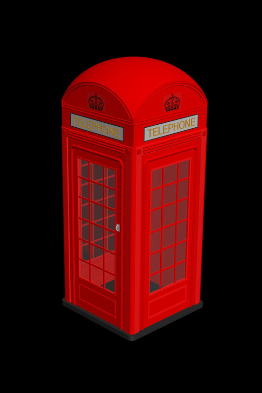 red telephone 3d model