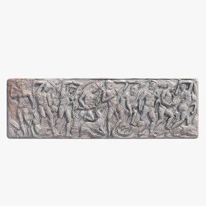 max greek bas-relief