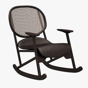 3d klara armchair chair model