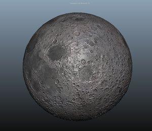 3d model moon normal