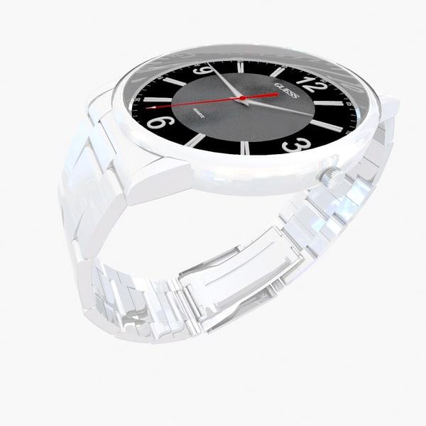 3d model guess watch
