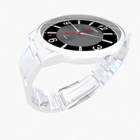 3d model guess watch
