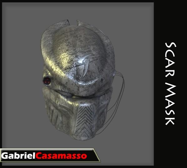 3d model mask predator