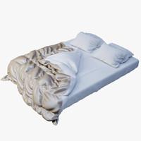 bed set 3d fbx
