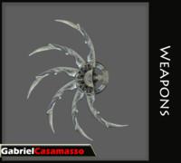 shuriken predator blades 3d fbx