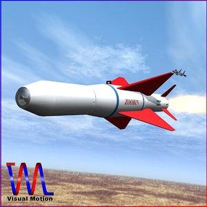3d agm-379 missile zoobin model
