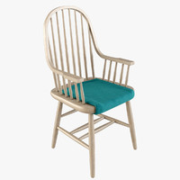 3d model carriage chair