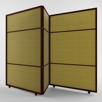 folding screen 3d 3ds