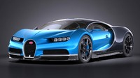 3d model of bugatti chiron 2017