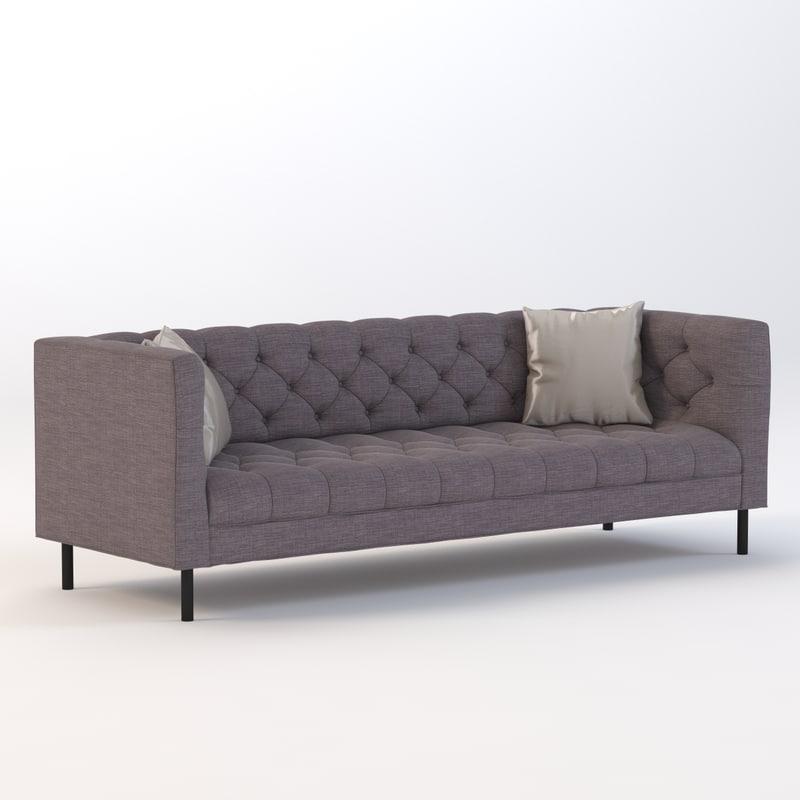 max contemporary livingroom rh turbosquid com cobble hill prescott sofa cobble hill hudson sofa