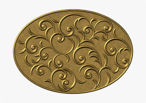 swirl oval ornament max