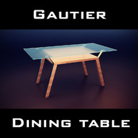 3d model of gautier cocktails table