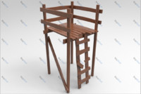 hunting tower 3d model