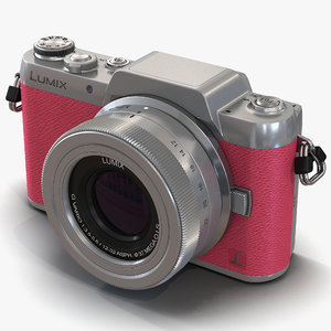 3d model panasonic dmc gf7 pink