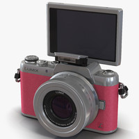 Panasonic DMC GF7 Rigged Pink 3D Model