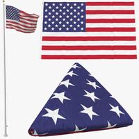 3d model 3 flag poses