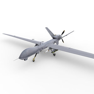 3d mq-9 reaper vehicle