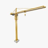 tower crane rt 3d model