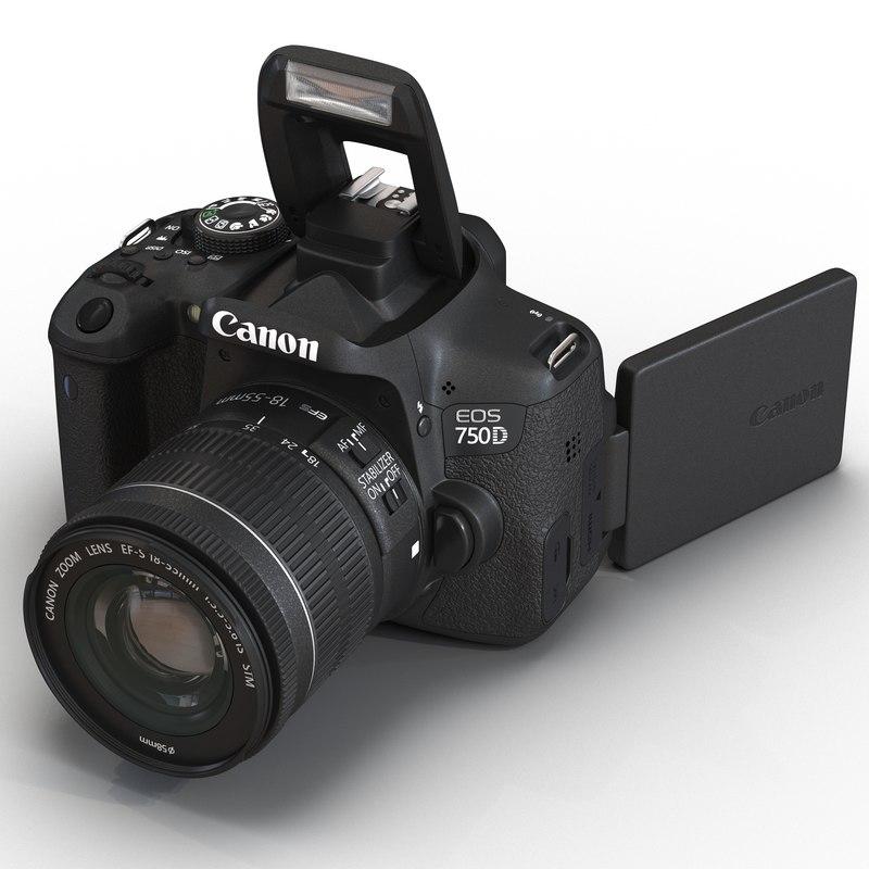 3d canon eos 750d model