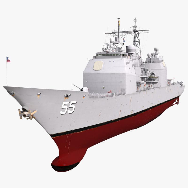 uss leyte gulf cg-55 3d model