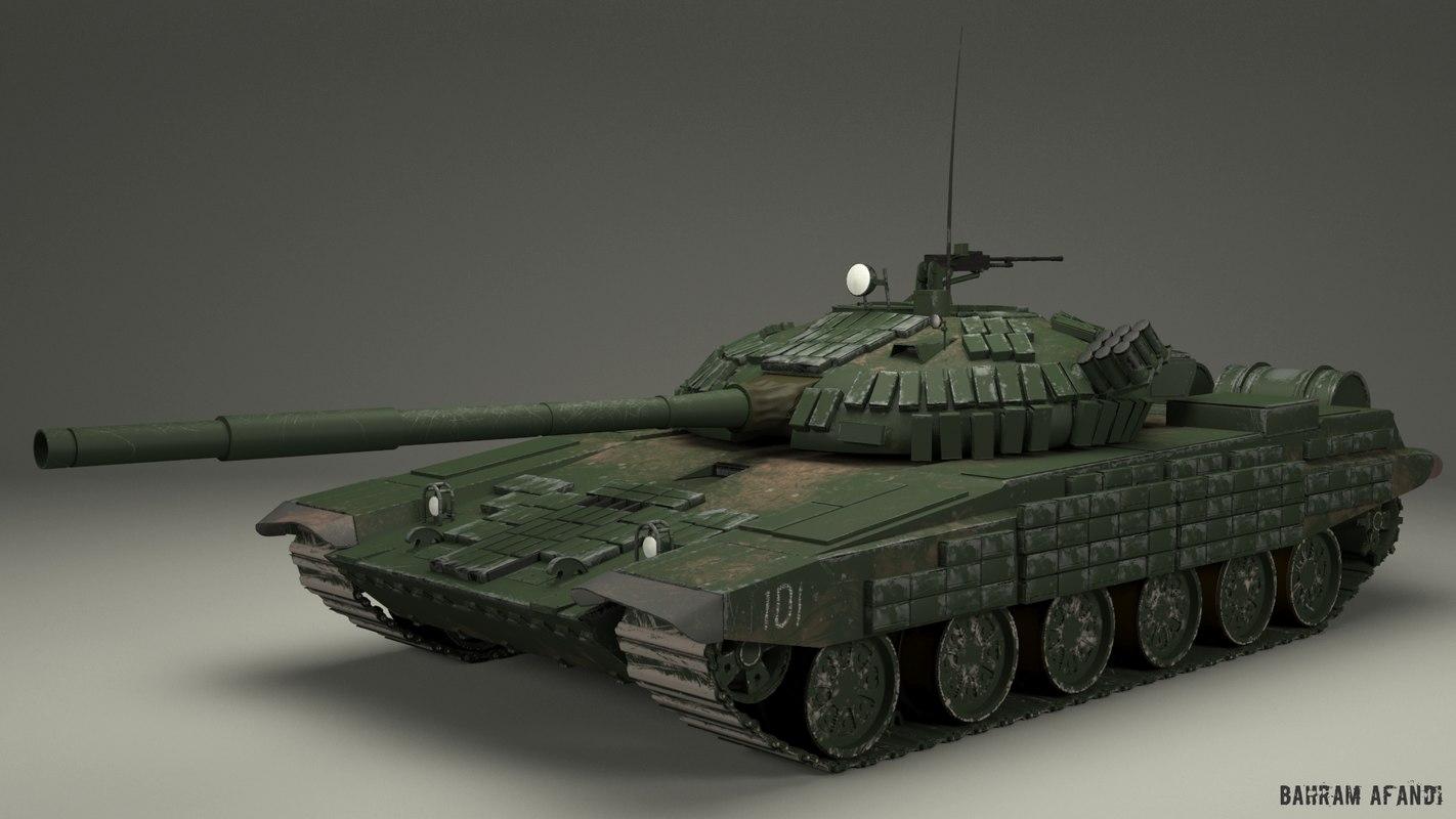 3d tank t72 t