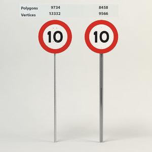 3d max speed limit-10