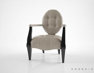 donghia gran eaton armchair 3d max