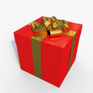 3d giftbox modeled v-ray