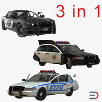 Generic Police Cars Rigged Collection