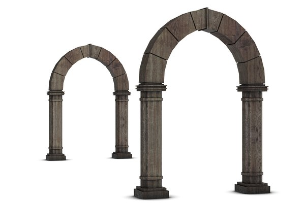 3d obj wooden archway