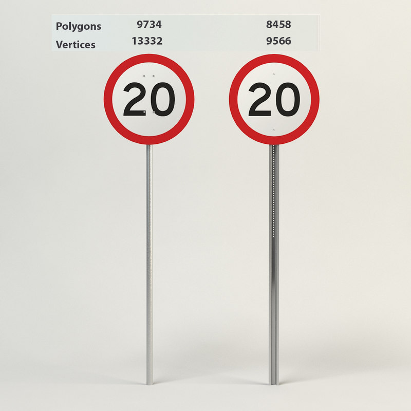 speed limit-20 3d model