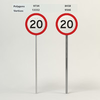 speed limit-20 3d model
