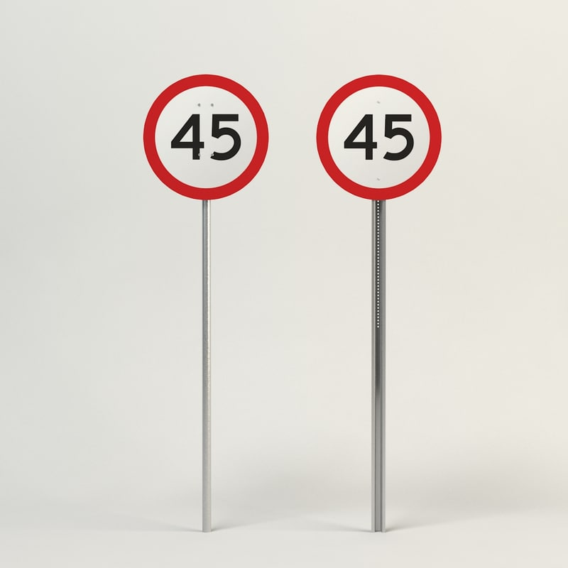 3d model speed limit-45
