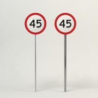 3d model speed limit-45