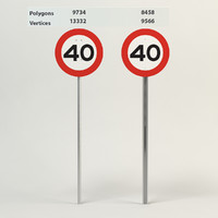 3d model speed limit-40