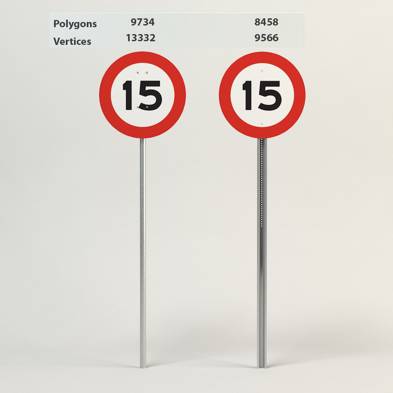 3d speed limit-15 model