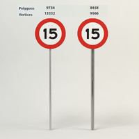 3d speed limit-15 model