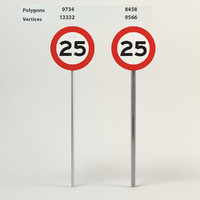 3d model speed limit-25