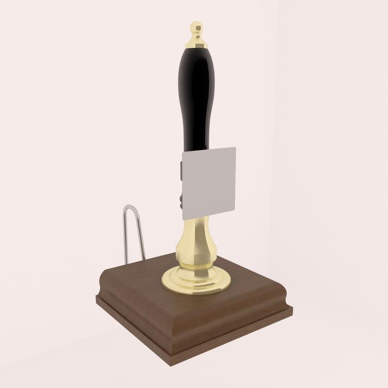 cask ale pump 3d model