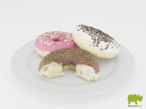 3d donuts model