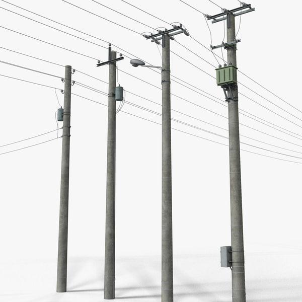 complete set power transmission 3d model