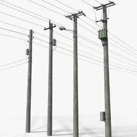 Power Transmission Line - Complete Set
