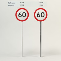 speed limit-60 3d 3ds