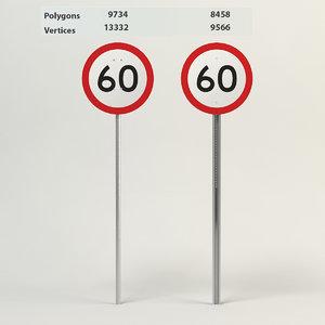 speed limit-60 3d 3ds