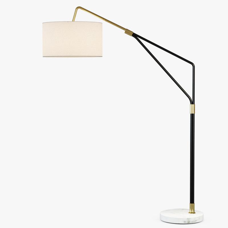 max mid-century overarching lamp