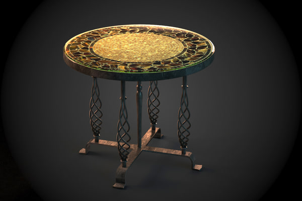 moroccan table tiled mosaic max