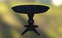 table antique 3d model