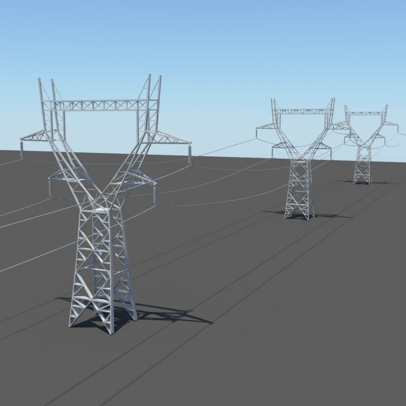 3d power lines